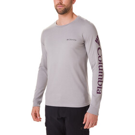Columbia Columbia Lodge Maglietta a maniche lunghe Uomo, columbia grey/sleeve hit